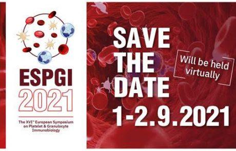 הזמנה לכנס ESPGI2021 בנושא אימונו-המטולוגיה של טסיות ונויטרופילים